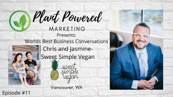 Plant Powered Marketing Podcast Sweet simple Vegan Vancouver Wa